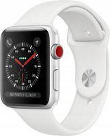 Apple Watch Series 3 GPS + Cellular 42mm Silver Aluminium Case with White Sport Band (MTH12MPA)