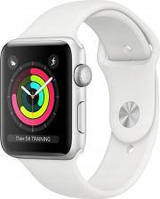 Apple Watch Series 3 GPS + Cellular 38mm Silver Aluminium Case with White Sport Band (MTGN2MPA)