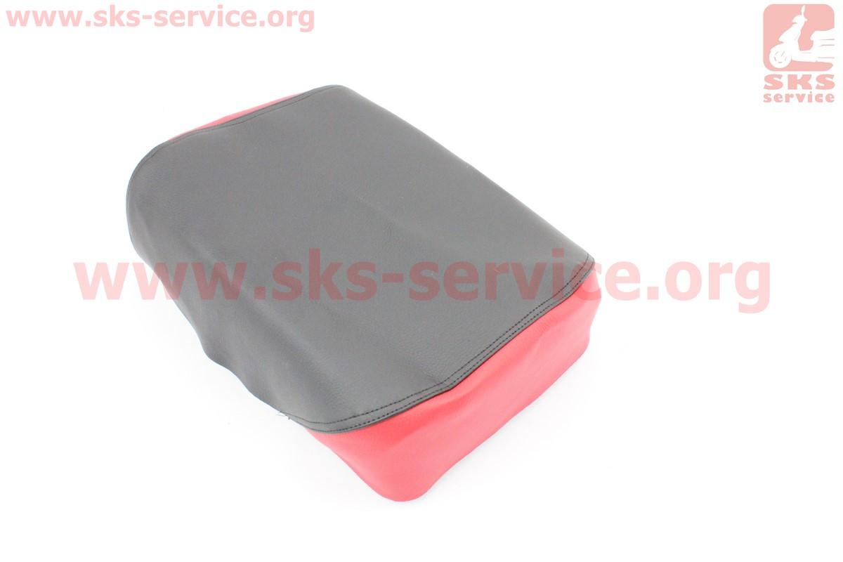 Чохол сидіння заднього вузького, 210мм (еластичний, міцний матеріал) чорний/червоний на мопед Delta