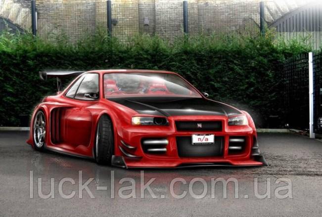Алмазная вышивка, машина красная гоночная 30х20 см, квадратные стразы, полная выкладка