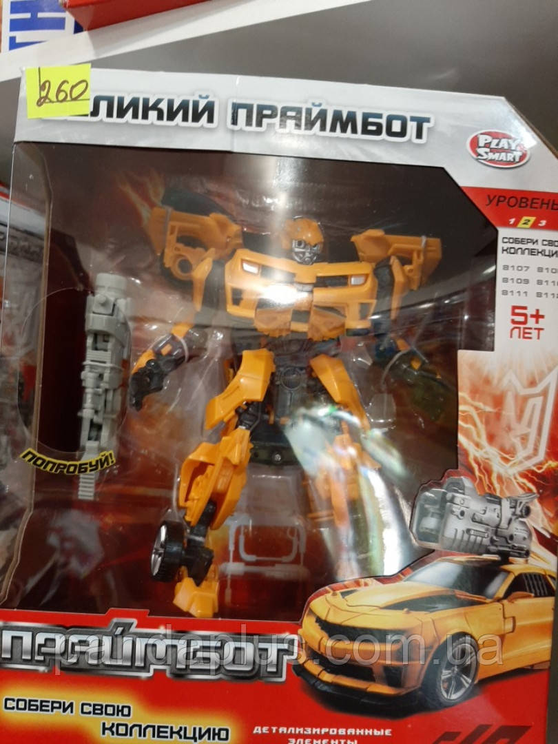 Трансформер H 602/8108  (24шт) Праймбот, робот(17см) - машинка, в кор-ке, 27-22-10см