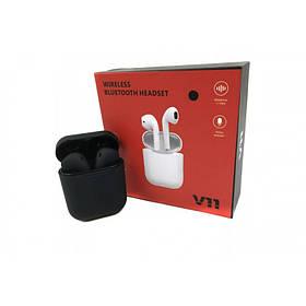 Беспроводные Bluetooth наушники Черные Tws V11