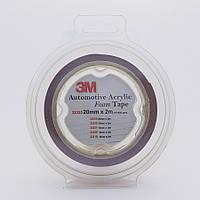 """Скотч двухсторонний """"Foam Tape"""", 3M, 20mmx2mx0,8mm, темно-серый, 32323"""