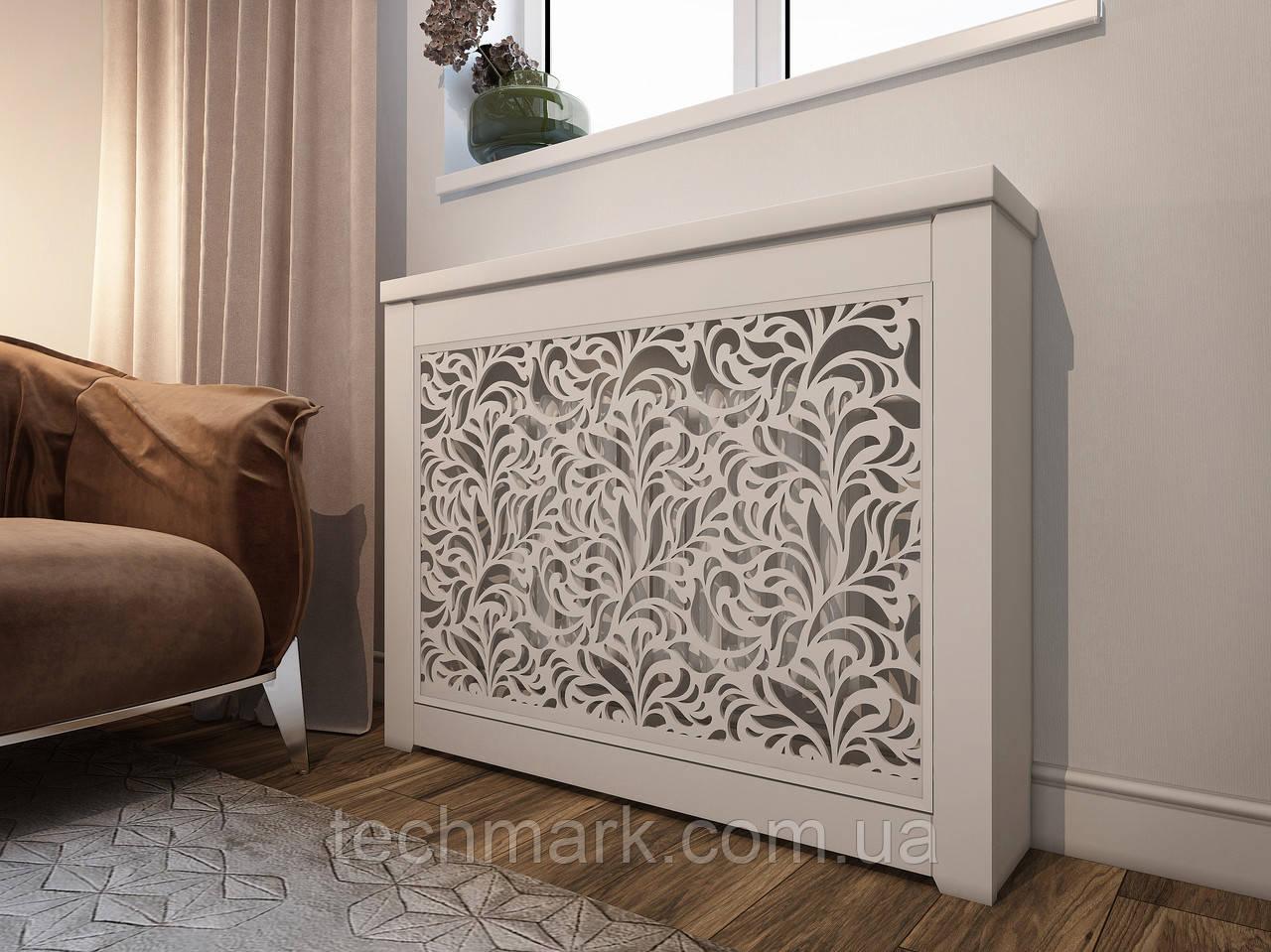 Декоративная решетка экран (короб) на батарею отопления R105-К