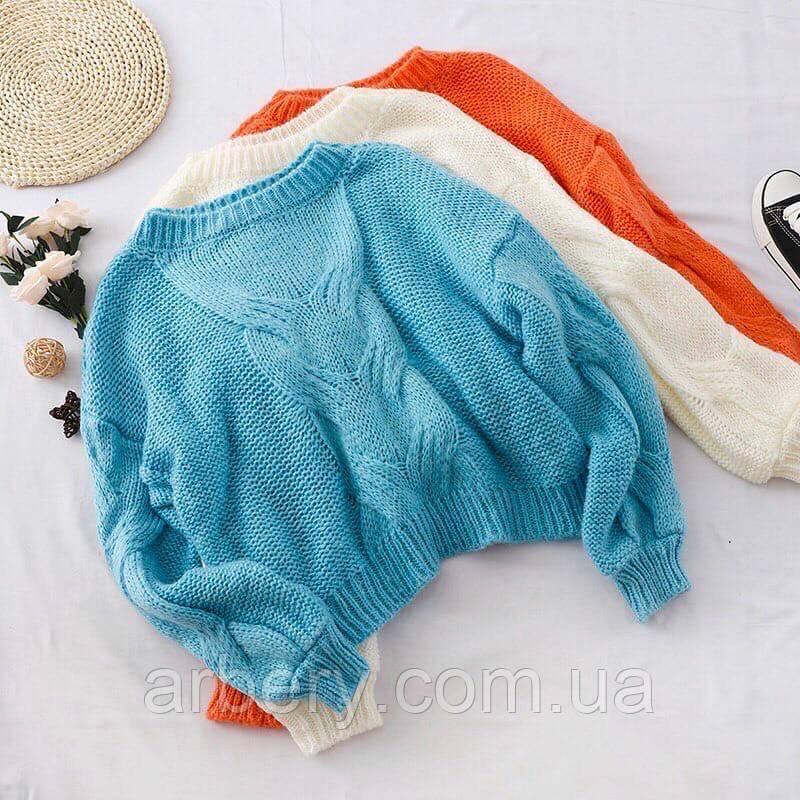 Шикарный свободный вязанный свитер