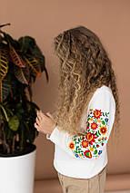 """Свитшот для девочки с вышивкой """"Цветы"""", фото 3"""