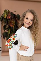 """Свитшот для девочки с вышивкой """"Цветы"""", фото 2"""
