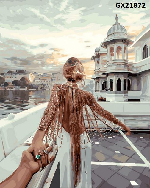 Картина по номерам «Слідуй за мною. Озеро Удайпур» GX21872