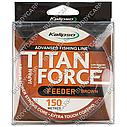 Волосінь 0.25 мм 150 метрів 7.3 кг Kalipso Titan Force Feeder Brown, фото 2