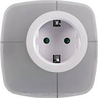 Светодиодный ночник с розеткой и переключаемыми цветами (NL-03W) luxel, светильник ночной детский Люксел