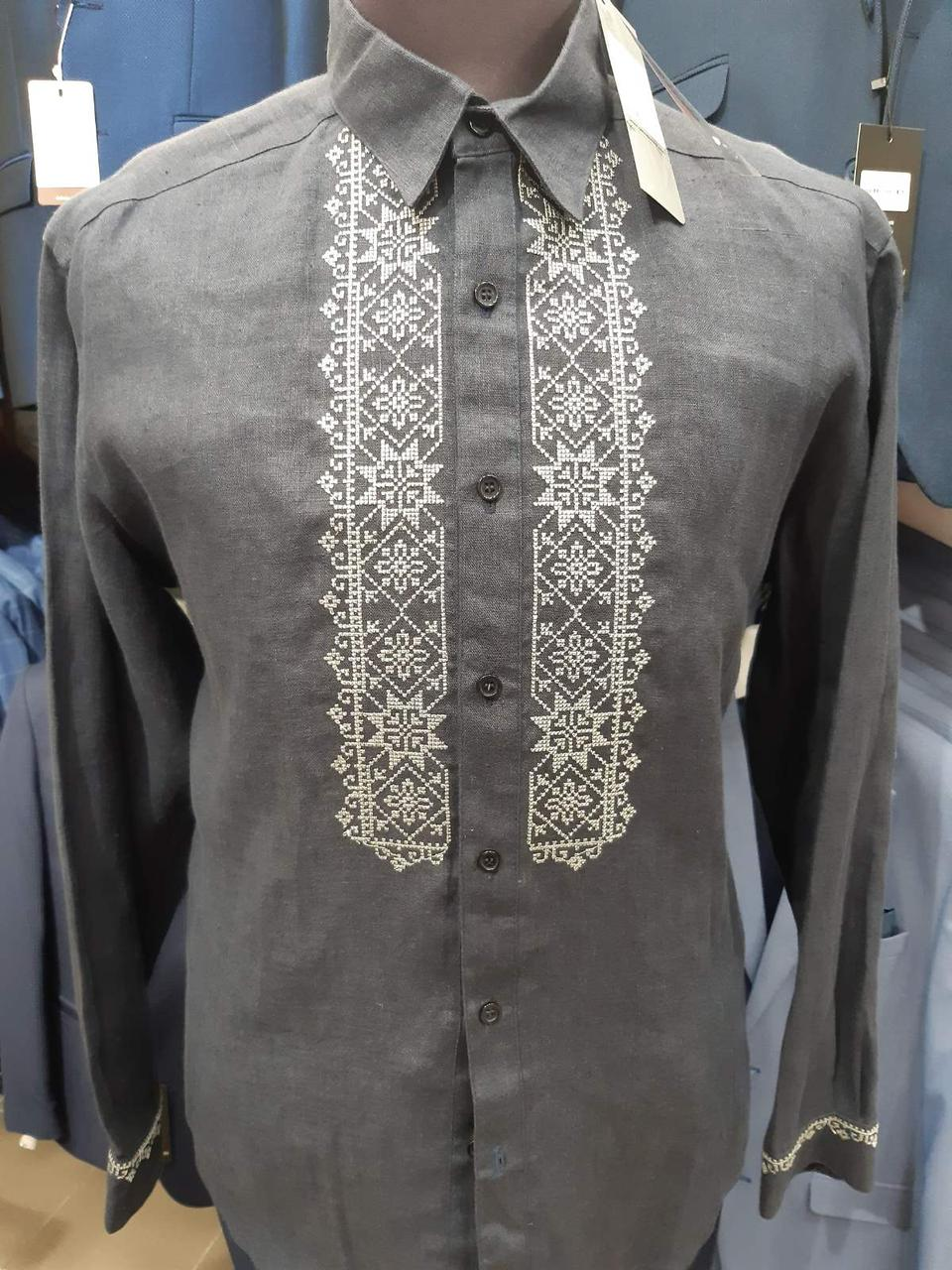 Рубашка-вышиванка Petro Soroka модель МТ 2064-07 синяя