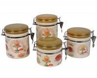 Набор банок для сыпучих продуктов Cupcake 16*10 см, 14*10 см, 12*10 см, 10*10 см, керамика