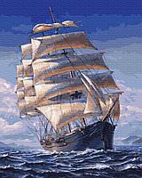 Картина по номерам Одинокий парусник GX34463 40х50см расккраска по номерам