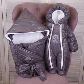 Зимний конверт одеяло с комбинезоном для новорожденных Finland+King, хамелеон