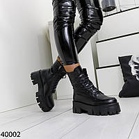 Женские зимние ботинки на тракторной подошве