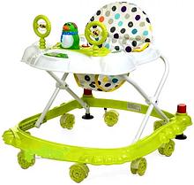 Ходунки арт  3168 Bambi  олень,стопор,муз,свет,колеса 7 шт 6 см цвета. зеленые
