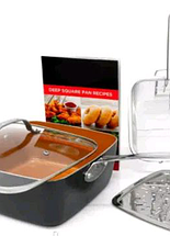 Сковорідка-фритюрниця квадратна з кришкою TOP KITCHEN BN-8001, фото 3