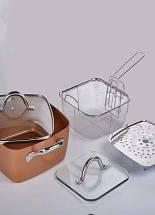 Сковорідка-фритюрниця квадратна з кришкою TOP KITCHEN BN-8001, фото 2