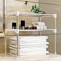 Настольный кухонный стеллаж под микроволновку с полками для посуды специй, Этажерка для микроволновки 2 яруса, фото 2