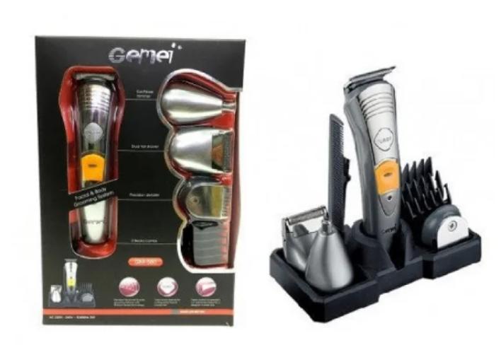 Профессиональная машинка для стрижки Gemei GM 580 7 в 1 Электрическая бритва с триммером для бороды