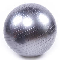Мяч для фитнеса 55 см фитбол графитовый глянец 0702 OF