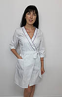 Женский медицинский халат Бэль коттон три четверти рукав