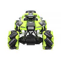 Трюковая машинка вездеход Lesko CX-60 Green с дистанционным управлением детский внедорожник, фото 3