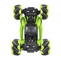 Трюковая машинка вездеход Lesko CX-60 Green с дистанционным управлением детский внедорожник, фото 4