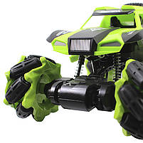 Трюковая машинка вездеход Lesko CX-60 Green с дистанционным управлением детский внедорожник, фото 5