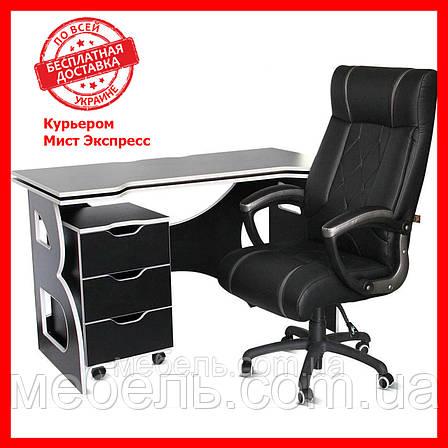 Компьютерный стол со стулом и тумбой Barsky HG-06/BD-01/CUP-06 Homework Game, геймерская станция, фото 2