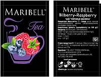 Чай концентрат Чорниця-Малина TM Maribell 50г, 25шт / уп, 100шт / ящ, фото 1