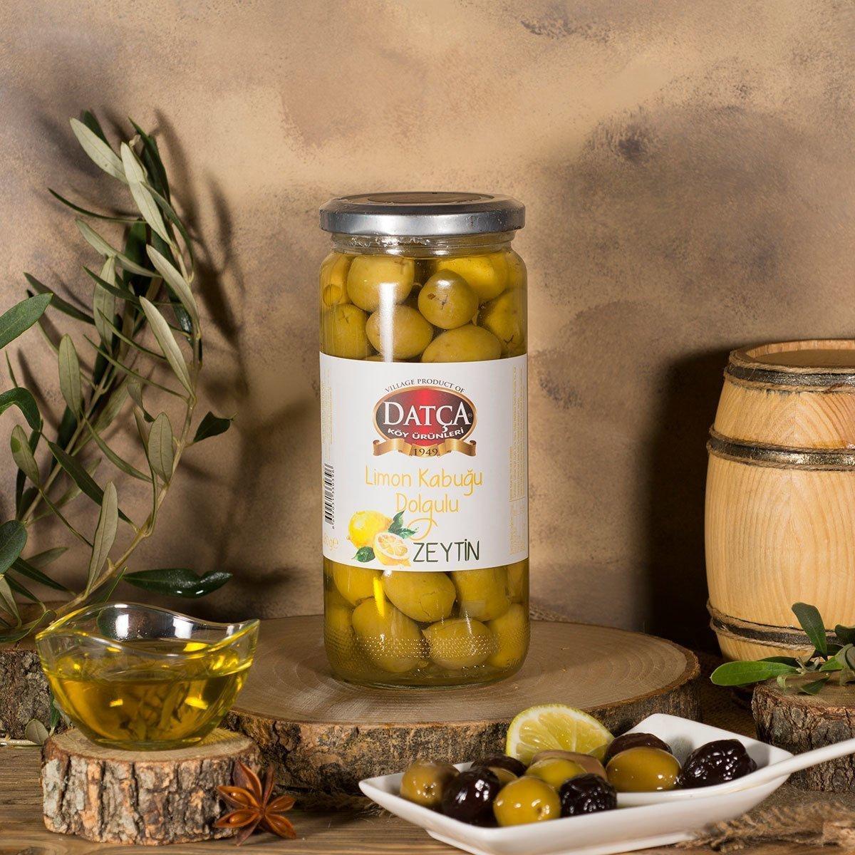 Оливки зеленые с лимоном Datca в масле 480 г