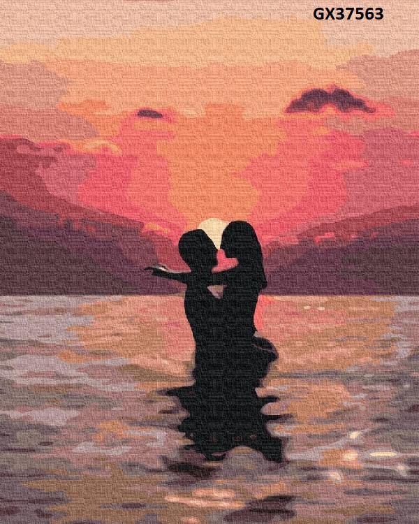 Картина по номерам «Закохані на закаті» GX37563