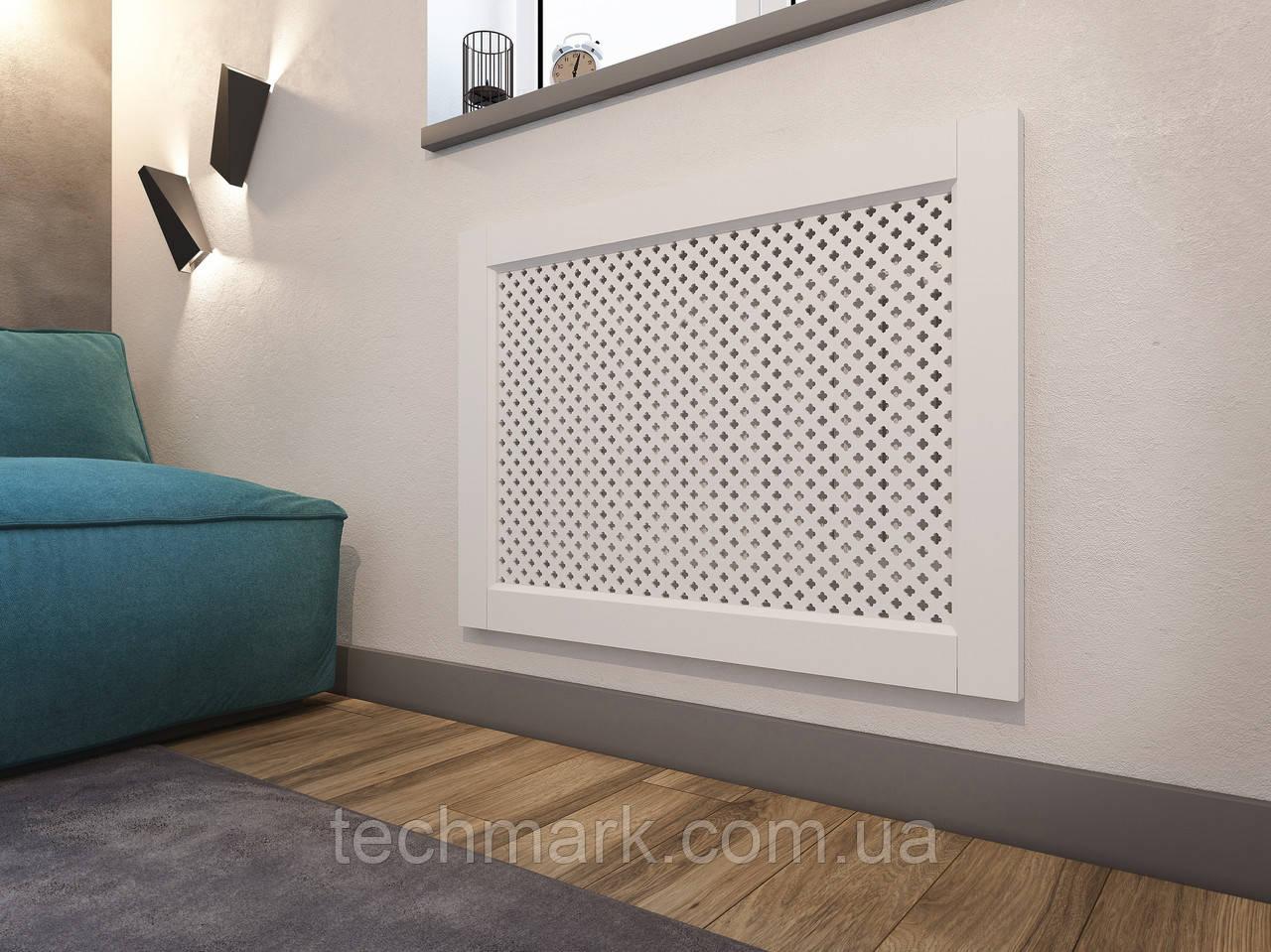 Декоративная решетка экран (фасад) на батарею отопления R113-F