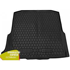 М'який поліуретановий килимок в багажник Skoda Octavia / Шкода Октавія A7 2013 - Universal / Універсал - з