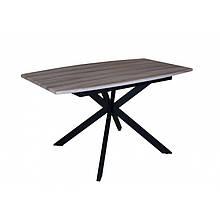 Стол деревянный кухонный  Solere black/beige 1400(1800)х850