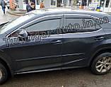 Дефлектори вікон з хром молдингом, Вітровики Lexus RX 2015- (HIC), фото 5