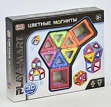 """Конструктор магнитный """"Цветные магниты""""  от Play Smart, 30 деталей, 9 моделей 2427"""