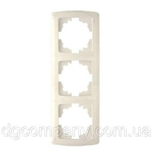 Рамка тройная вертикальная Viko Karmen 90571003