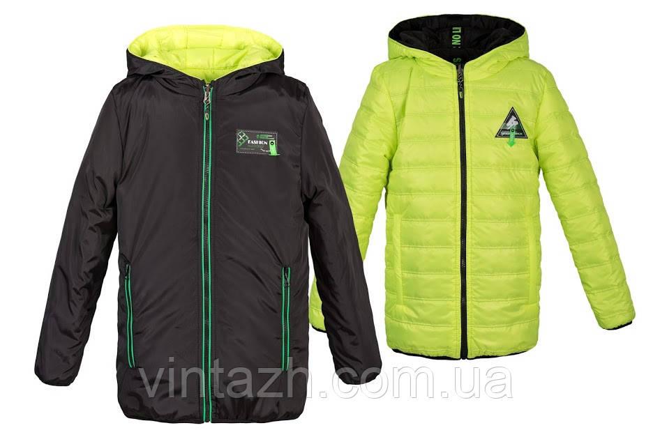 Яркая,модная куртка весна-осень для мальчика на рост 110-164
