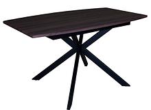 Стол деревянный кухонный  Solere black/deep red 1400(1800)х850