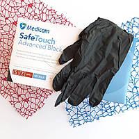 Нитриловые черные перчатки Medicom SafeTouch S
