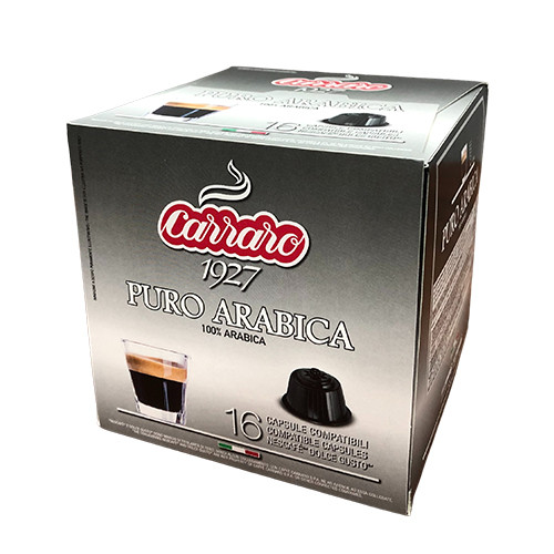 """Кофе в капсулах Carraro """"Puro Arabica 100%""""  16 шт."""