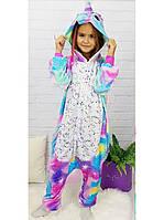 Детская пижама кигуруми  единорог звезда блестящая Искорка 110-140 рост (полномерка)
