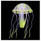 Медуза в аквариум силиконовая - диаметр шапки 6-6,5 см, фото 3