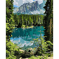 "Картина по номерам на холсте, набор для росписи ""Загадочное озеро"" 40*50см KHO2270"