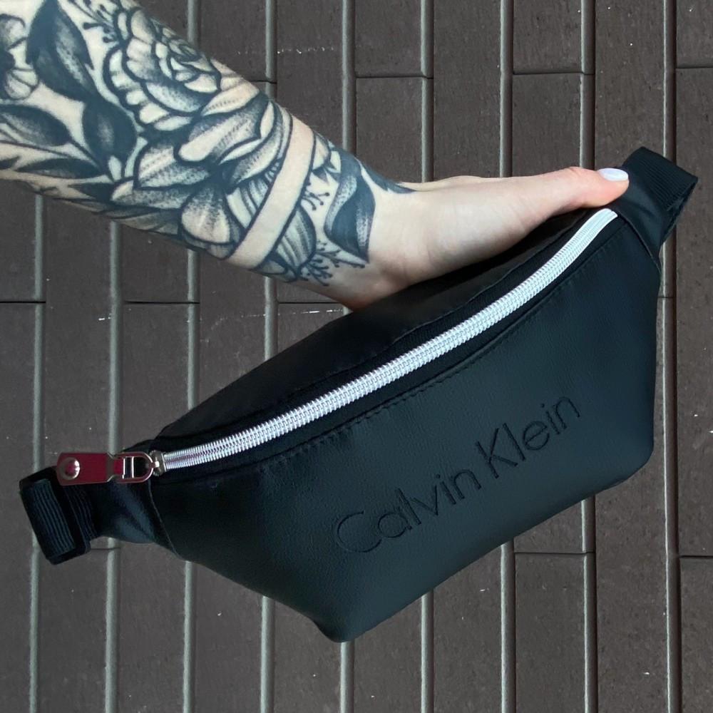 Мужская черная поясная сумка бананка Calvin Klein CK, Кельвин Кляйн, сумка на пояс