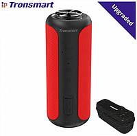 Колонка Tronsmart element T6 Plus upgrade edition 40W Red + Сумка и чехол USB Type-C / 6600mAh / AUX / MicroSD