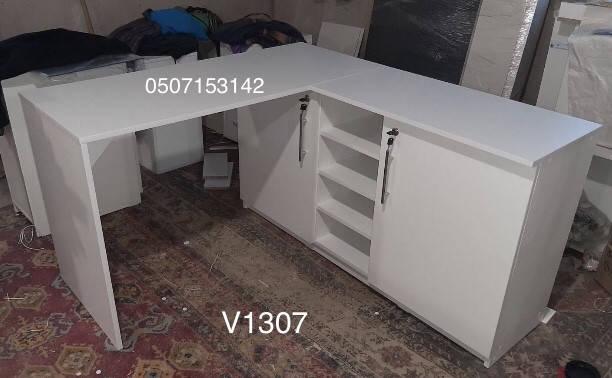 Маникюрный стол с угловой тумбой для Наталии Модель V431-1307