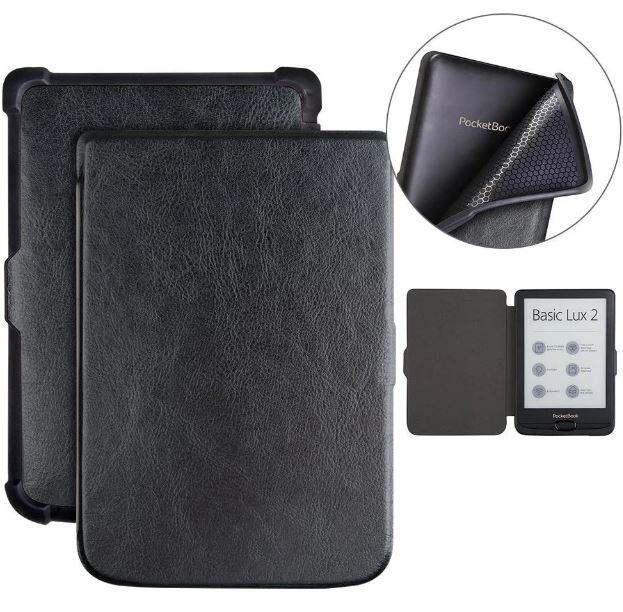 Чехол обложка  для PocketBook 606  автосон черный